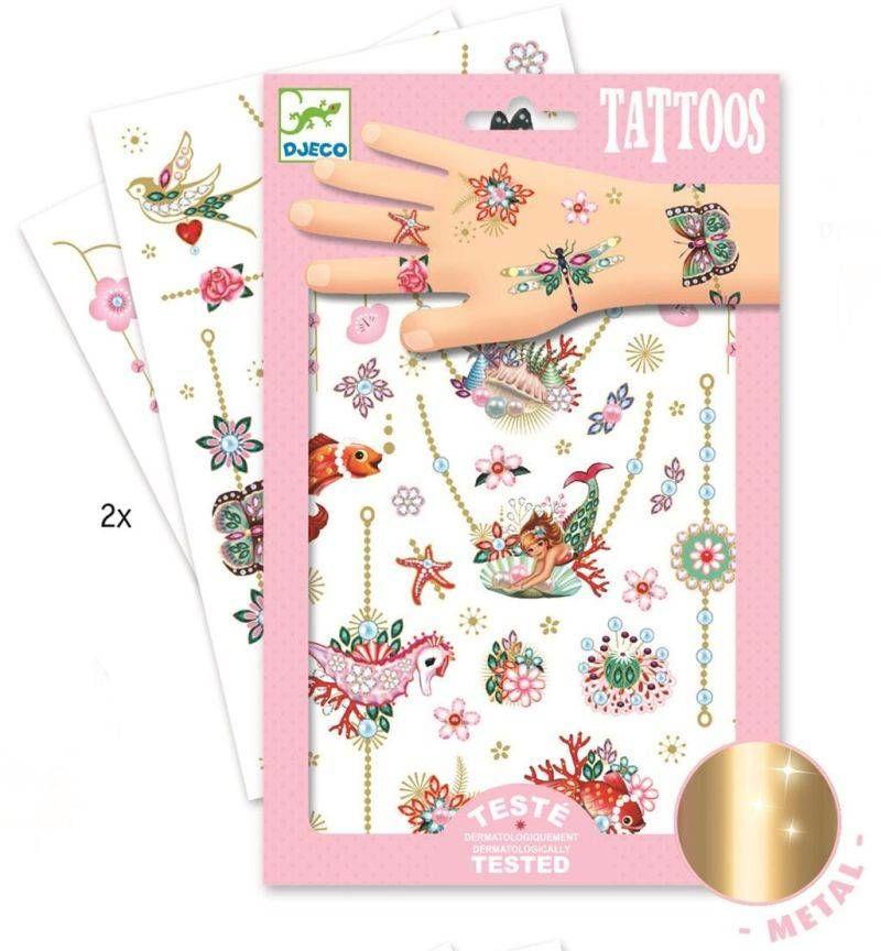 Tatuaże metaliczne Klejnoty Fiony DJ09586-Djeco, tatuaże dla dzieci
