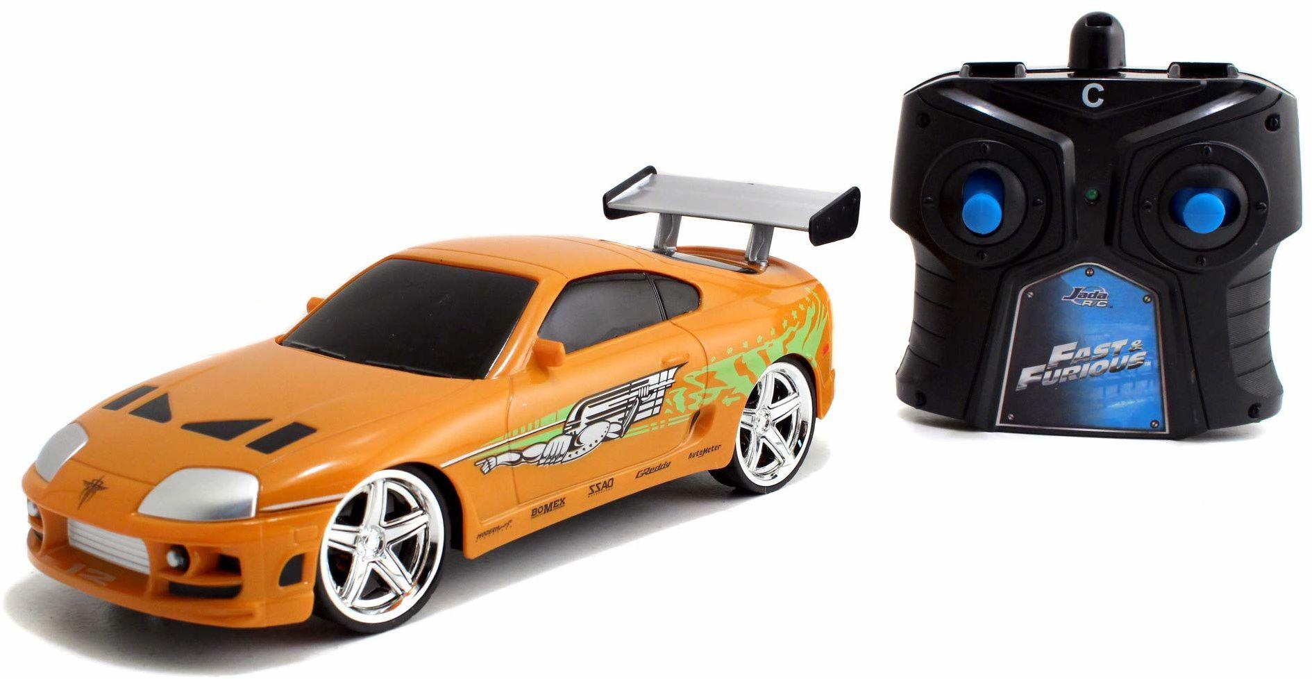 Jada Toys 253203021 Fast & Furious RC Brian''s Toyota zdalnie sterowany samochód, pomarańczowy