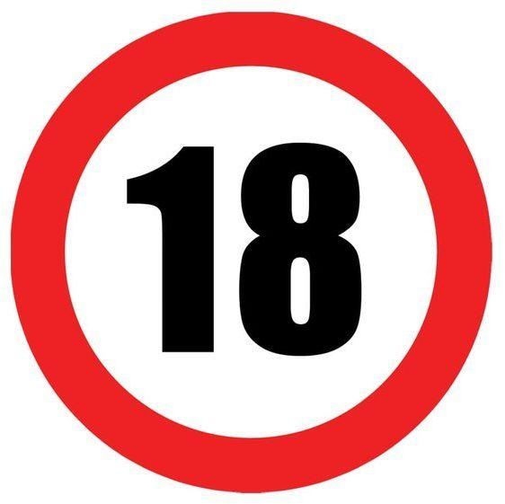 Talerzyki na 18 urodziny zakaz 18cm 6 sztuk TP18-ZAK18