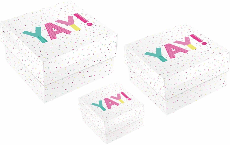 Pudełka prezentowe Yay! białe - 3 szt.