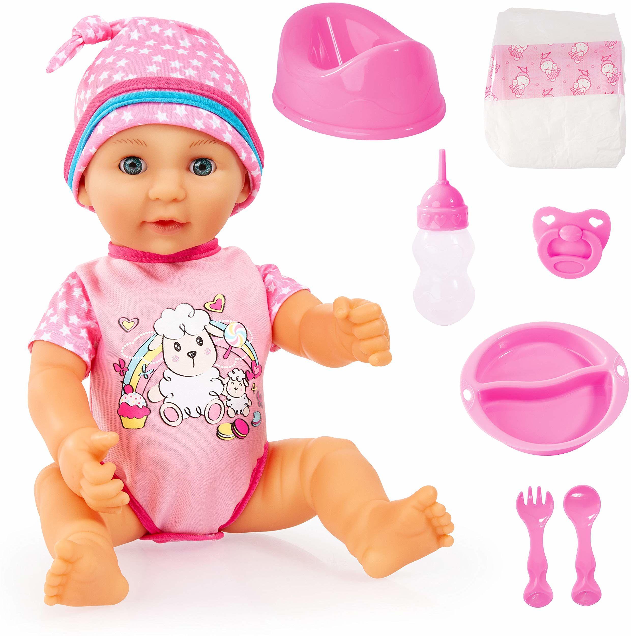 Bayer Design 94073AD, Lisa noworodka 38 cm, lalka z twardym ciałem z akcesoriami i oczami do spania