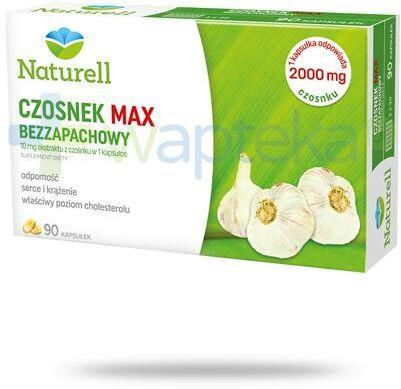 Naturell Czosnek Max bezzapachowy 90 kapsułek + Naturell witamina C dla dzieci 20tabl.