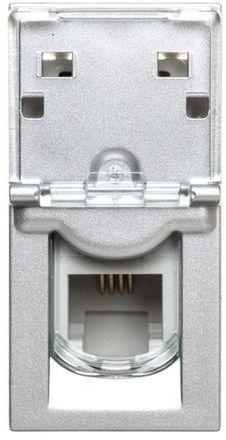 MOSAIC Gniazdo telefoniczne RJ11 aluminium 079231