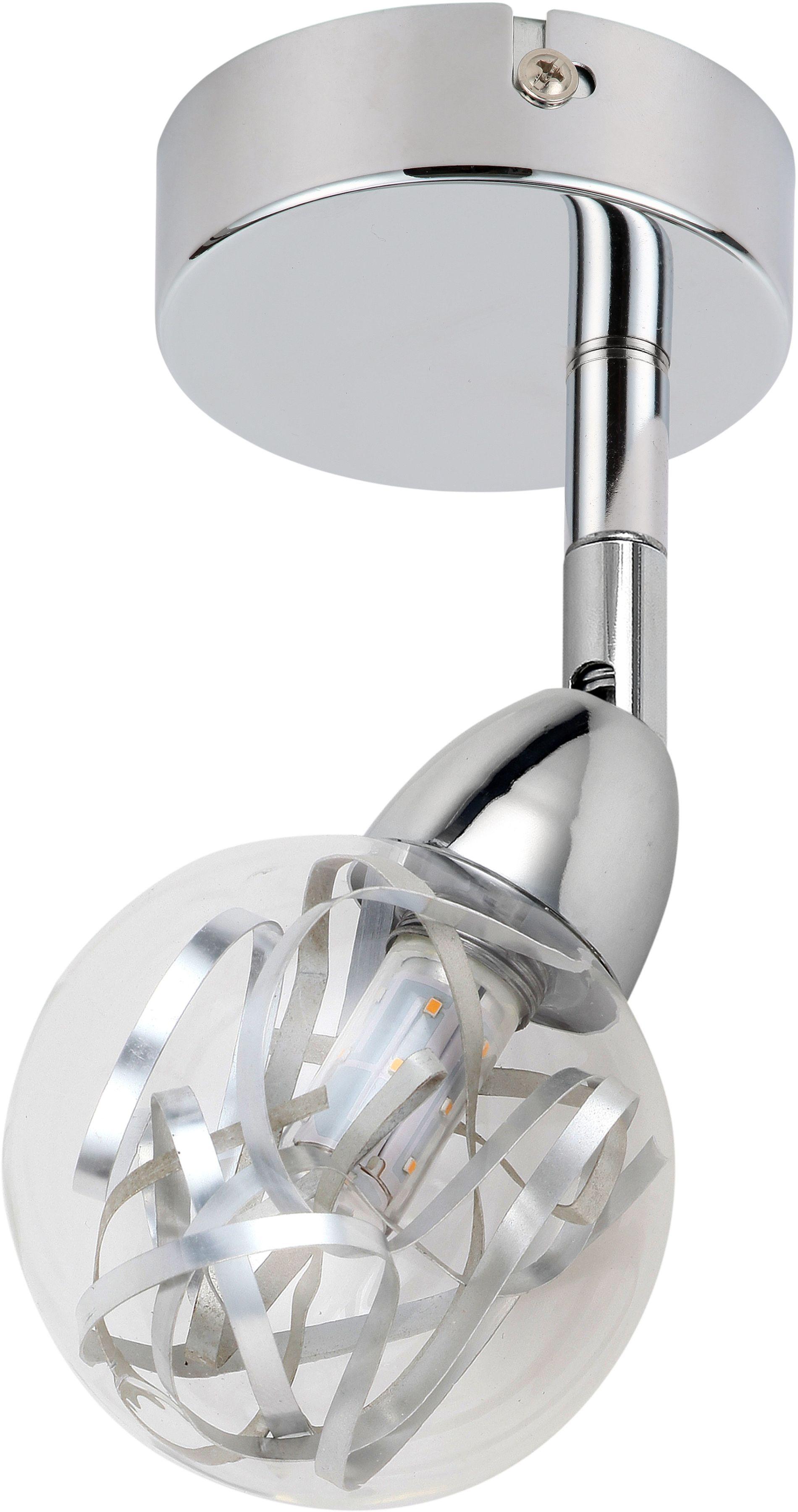 Candellux BOLO 91-67517 kinkiet lampa ścienna główka okrągła 1X6W LED SMD chrom 9cm