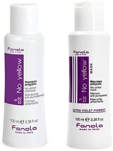 Fanola No Yellow szampon + maska do blond 2x100ml