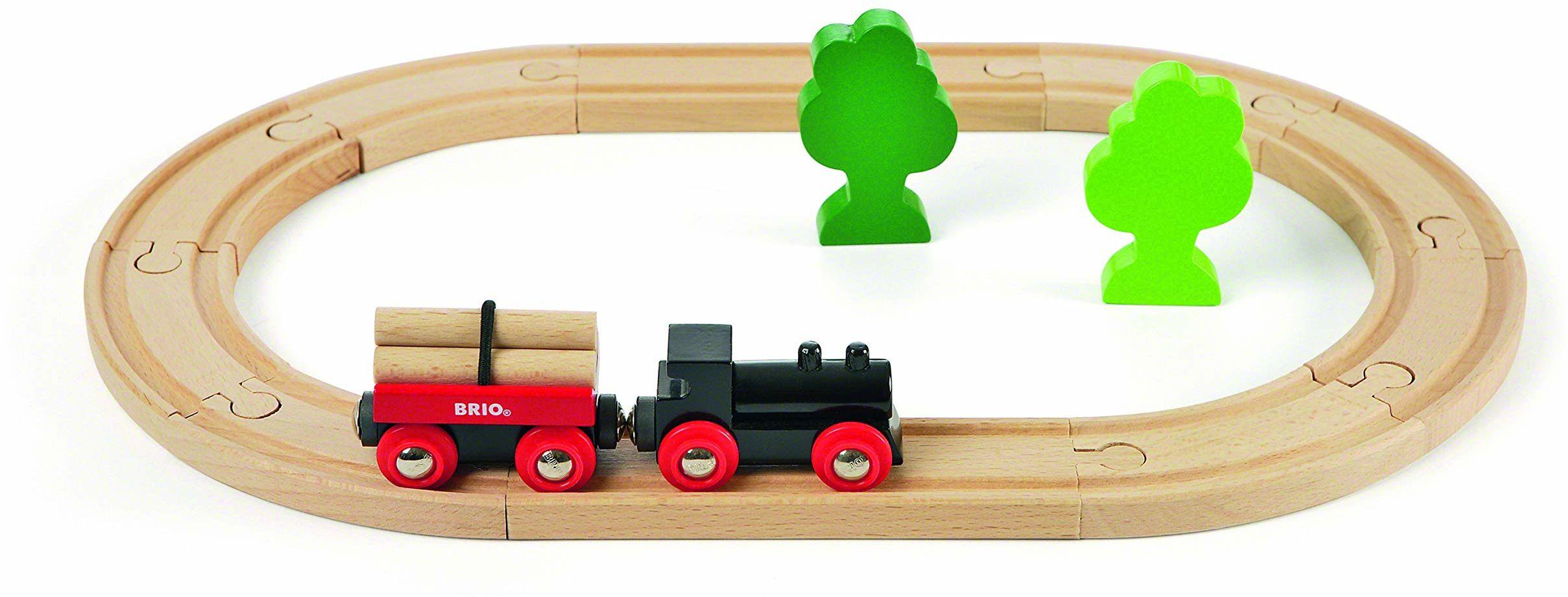 BRIO 63304200 Podstawowa Kolejka Leśna (63304200) Bezpieczna Zabawka Dla Dzieci Powyżej 3 Lat