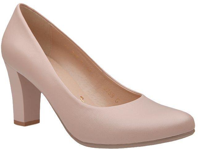 Czółenka BIOECO BI 5259-537 Arka Pudrowy Róż Soft Step System - Pudrowy Róż Nude Beżowy