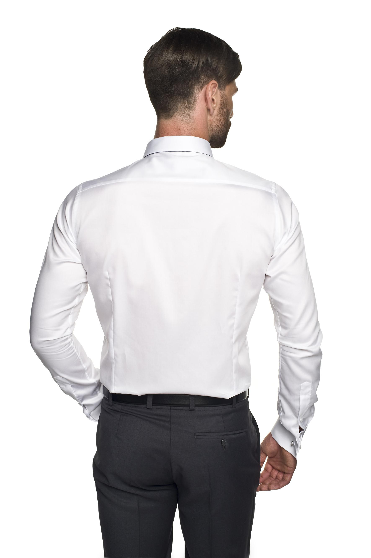 koszula versone 2623 na spinki slim fit biały
