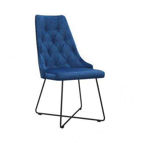 Krzesło jadalniane pikowane Nuit Cross