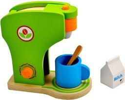 Idena 4100074 - mały mistrz kuchni ekspres do kawy z drewna, do kuchni zabawek i sklepów handlowych, od 3 lat, ok. 19 x 11 x 20 cm