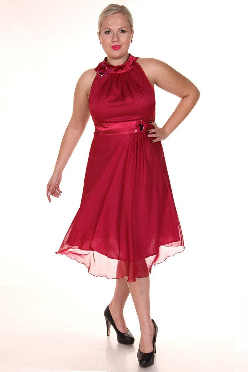 Sukienka FSU211 RUBINOWY