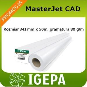Papier do plotera 841x50 Igepa MasterJet 80g/m2, rolka do plotera klasy Premium