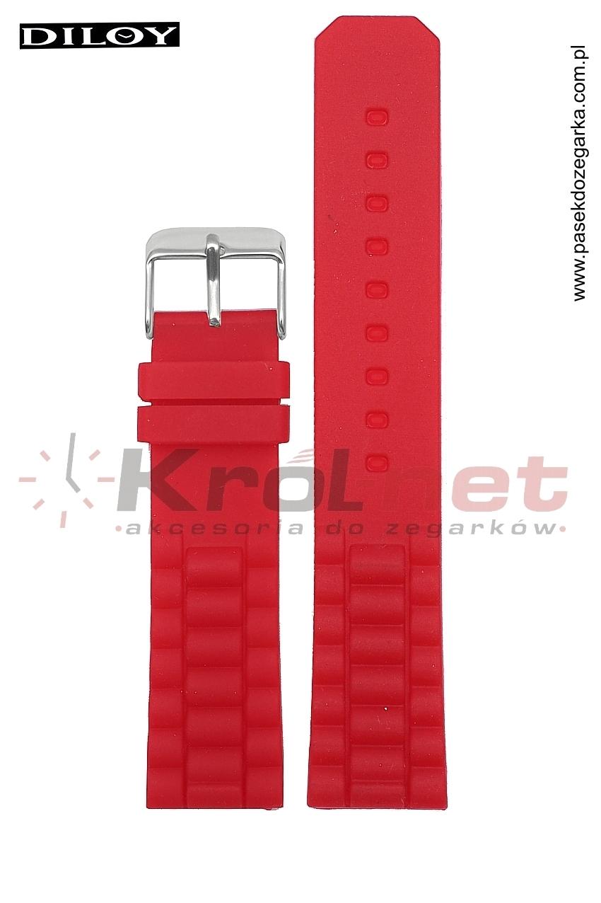 Pasek 252/06/22 - czerwony, silikonowy