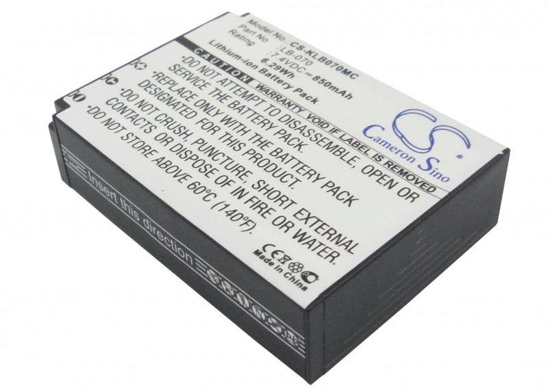 Kodak PIXPRO S1 / LB-070 850mAh 6.29Wh Li-Ion 7.4V (Cameron Sino)