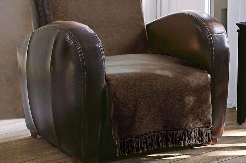 Koc Moca Design na fotel Chocolate