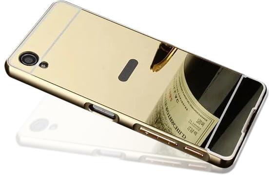 Etui Mirror Case Sony Xperia M4 Aqua - Złoty