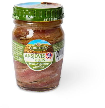 Anchois sardele w bio oliwie z oliwek extra virgin 78 g - la bio idea