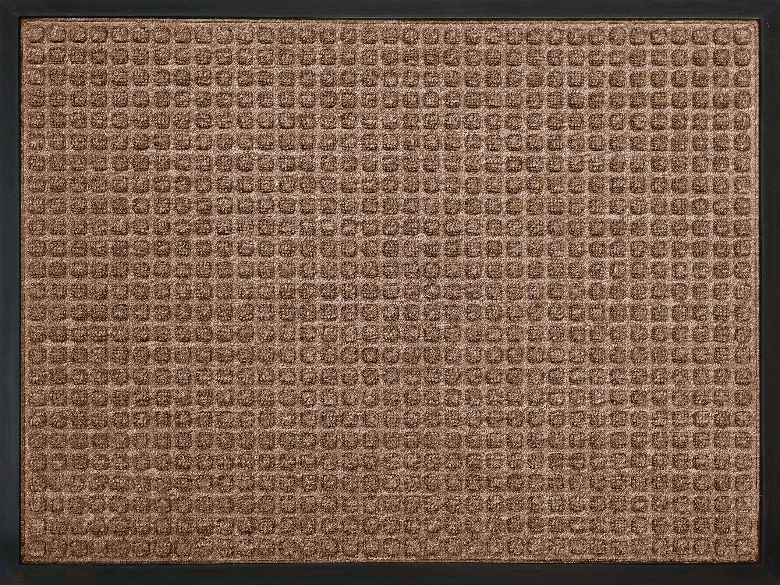 ID 6080 10 efekt matowy kwadratowa mata drzwiowa polipropylen/guma brąz 80 x 60 x 1 cm