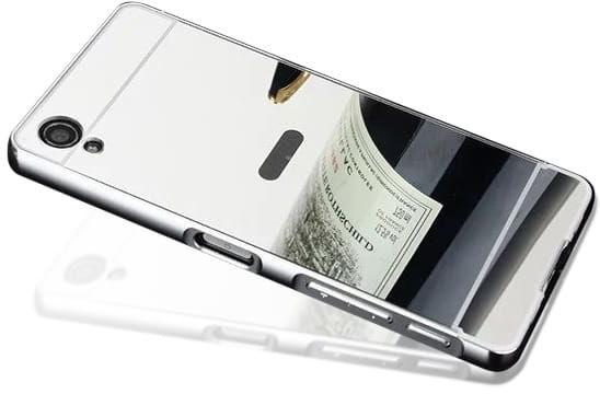 Etui Mirror Case Sony Xperia M4 Aqua - Srebrny