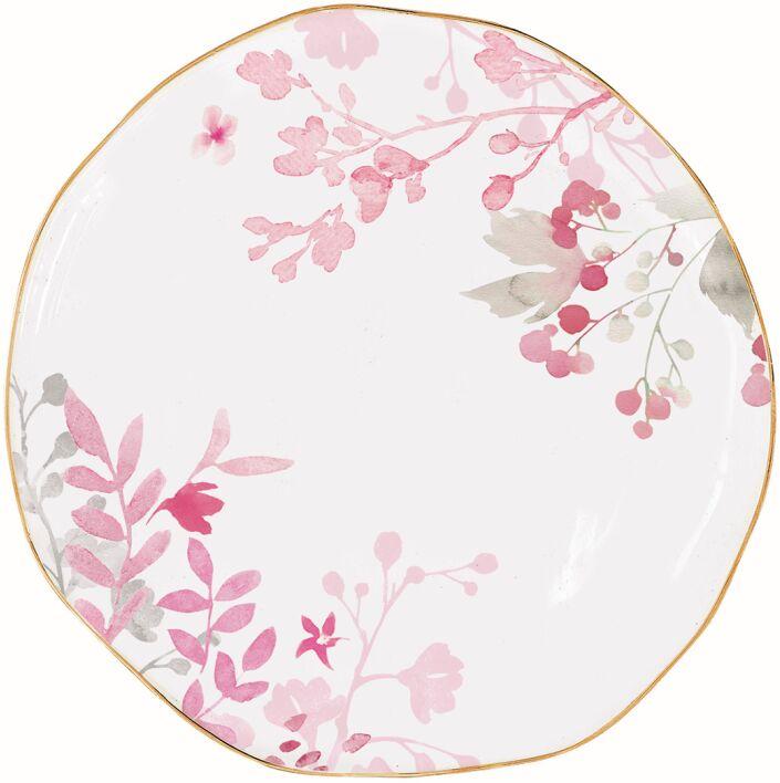 Easy Life/R2S, talerz deserowy - Paradise, różowe listki