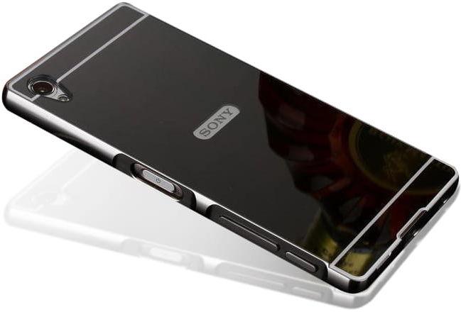 Etui Mirror Case Sony Xperia M4 Aqua - Czarny