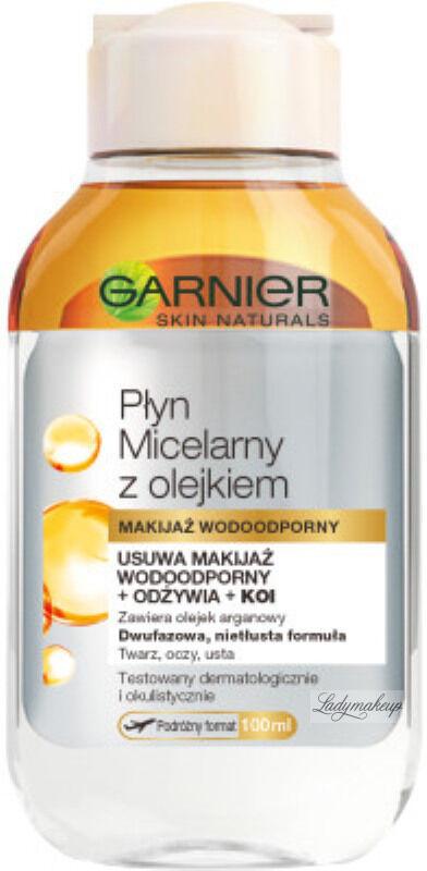 GARNIER - Dwufazowy płyn micelarny z olejkiem arganowym - Makijaż Wodoodporny - 100 ml
