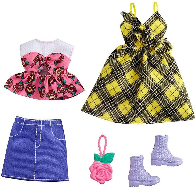 Barbie - Ubranka 2-pak z modnymi dodatkami GRC83