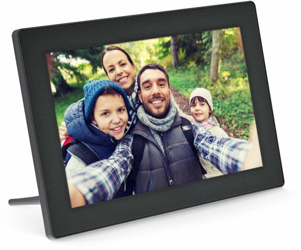 """""""InLine, cyfrowa ramka na zdjęcia WiFi WiFi, 10,1"""""""", 1280x800 16:9 LCD IPS, ekran dotykowy, Frameo APP, czarna"""", 55821S"""