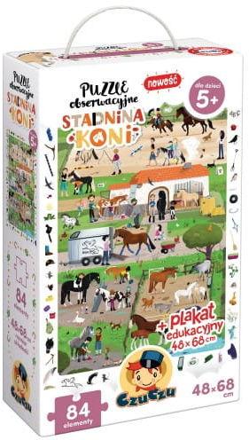 Puzzle obserwacyjne Stadnina koni