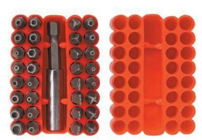 Zestaw bitów 39D355 Torx. Hex 33 szt. TOP TOOLS