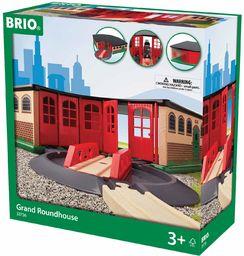 BRIO World 33736 duży żwirek z tarczą obrotową  akcesoria do drewnianej kolejki Brio  zabawka dla małych dzieci od 3 lat