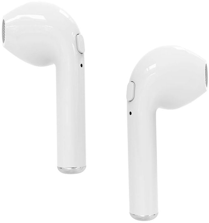 R-PHONES TWS - Słuchawki douszne Bluetooth 4.2 z technologią TWS, w komplecie powerbank/ładowarka z akumulatorem 350mAh, białe