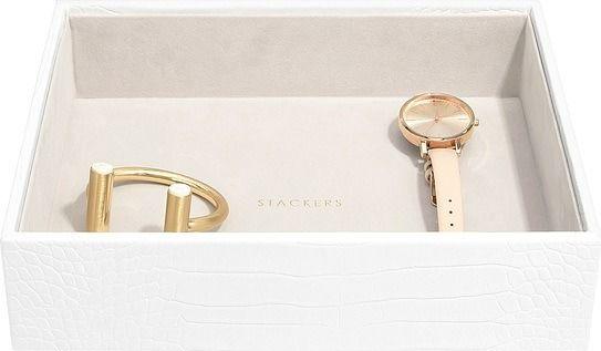 Szkatułka na biżuterię stackers croc open classic biała
