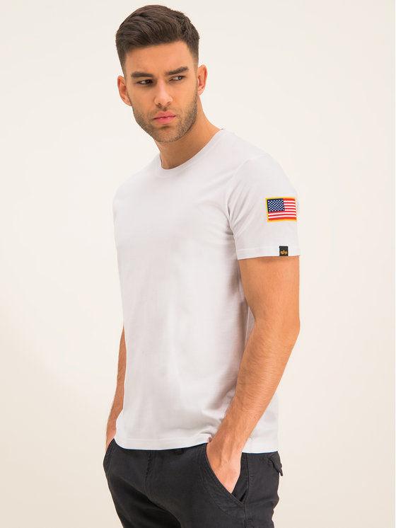 Alpha Industries T-Shirt Nasa 176506 Biały Regular Fit