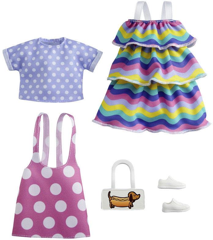 Barbie - Ubranka 2-pak z modnymi dodatkami GRC87