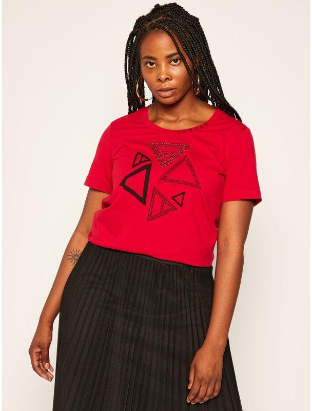 Persona by Marina Rinaldi T-Shirt Vale 1971010 Czerwony Regular Fit