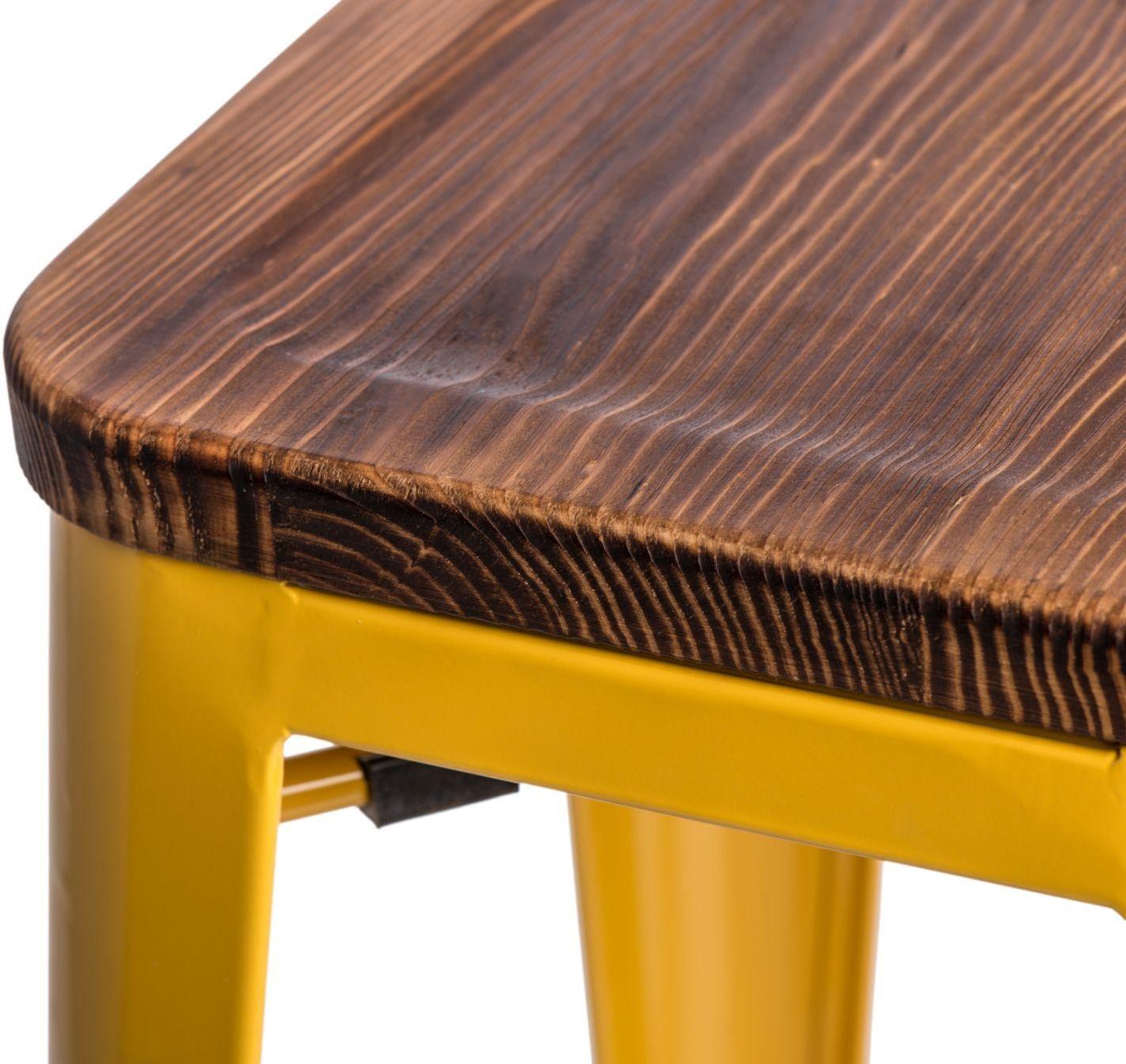 D2 Hoker Paris Wood 75cm żółty sosna