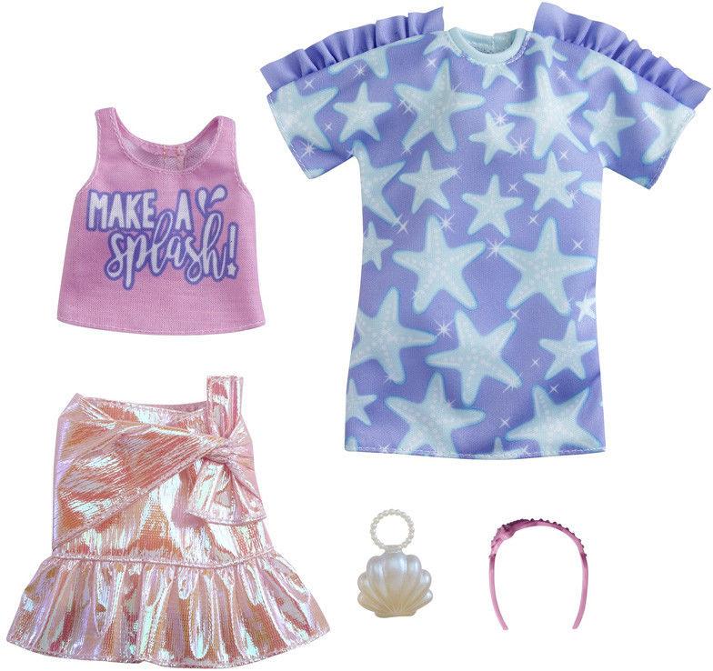 Barbie - Ubranka 2-pak z modnymi dodatkami GRC88