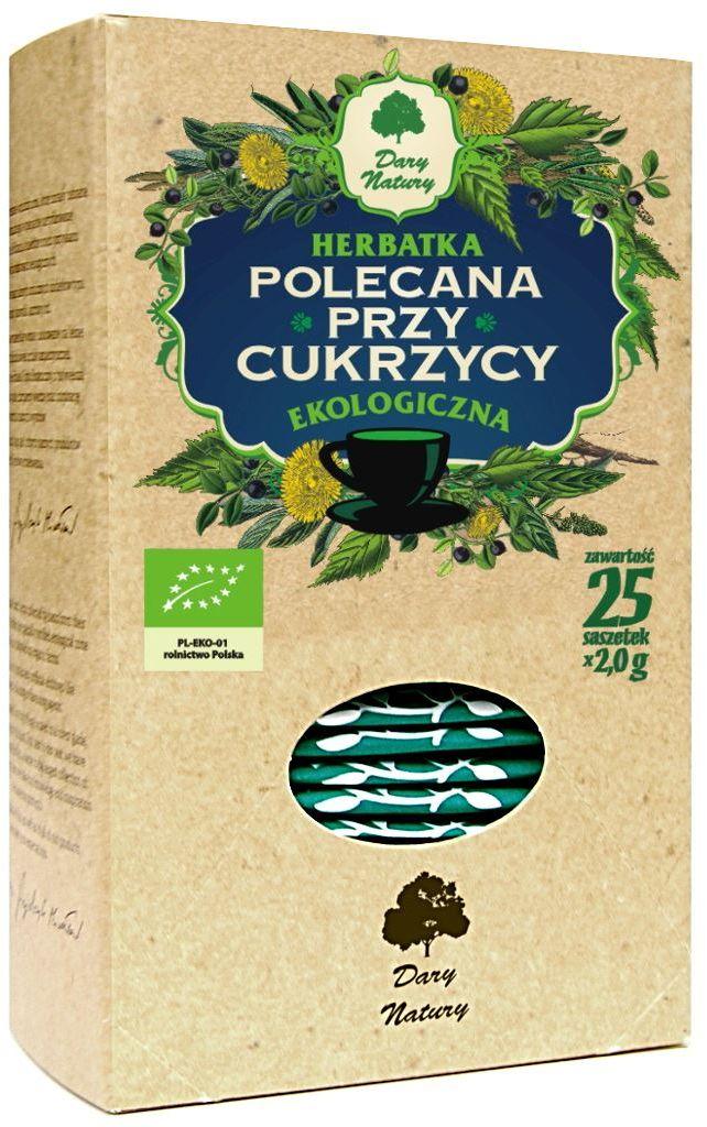 Herbatka polecana przy cukrzycy bio 25 x 2 g - dary natury