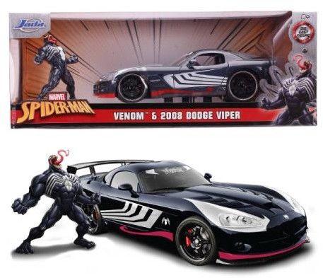 Pojazd i Figurka Marvel Venom 2008 Dodge Viper 1:24