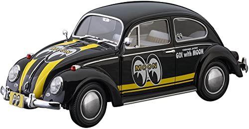 Hasegawa Mooneyes 020338 1/24 Volkswagen Garbus typ 1, plastikowy zestaw modelarski, akcesoria do modelarstwa, hobby, modelarstwo, wielokolorowe