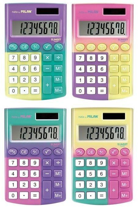 Kalkulator kieszonkowy 8 pozycyjny MILAN SUNSET mix kolorów 1szt. /159512SN/