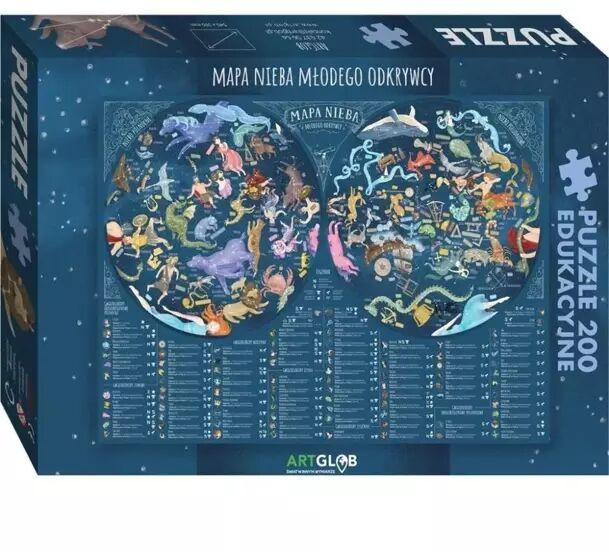 Puzzle 200 - Mapa Nieba Młodego Odkrywcy - Artglob