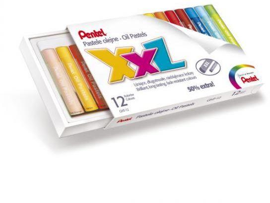 Pastele olejne grube 12 kolorów GHT-12 PENTEL