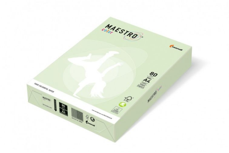 Papier Mondi MAESTRO Color Pastell - GN27 - jasna zieleń (A4/80 g/m2) - 5 ryz (GN27)