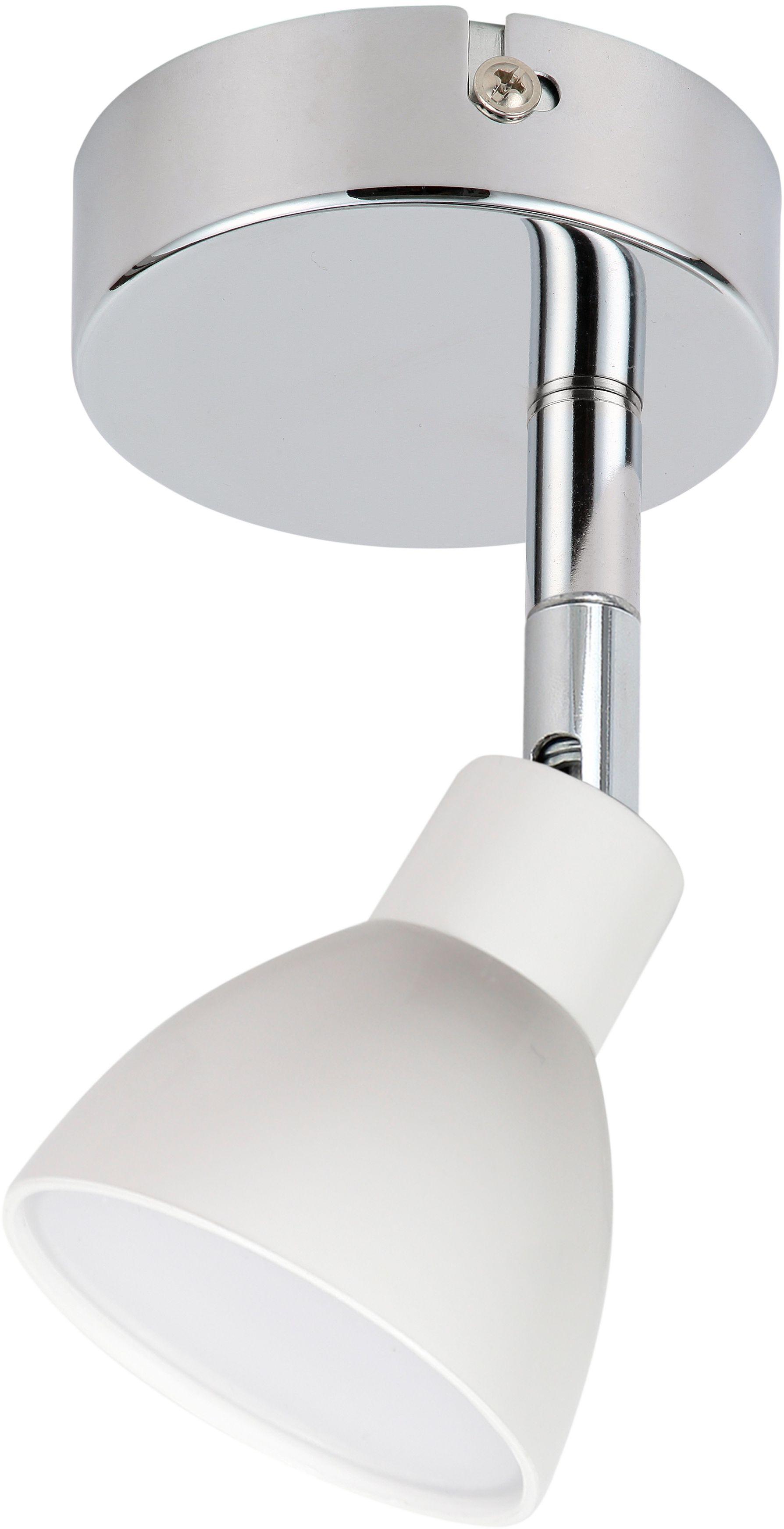 Candellux ROY 91-67524 kinkiet lampa ścienna biały 1X5W LED COB główka okrągła chrom 7cm