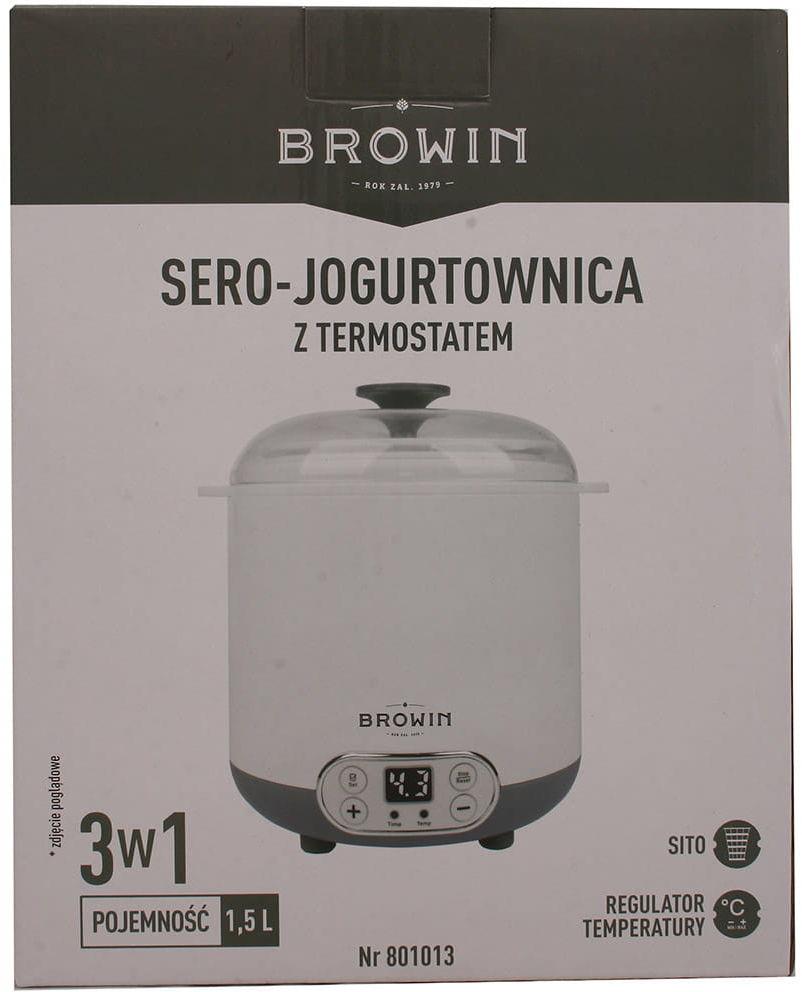 Jogurtownica z termostatem serownica Browin