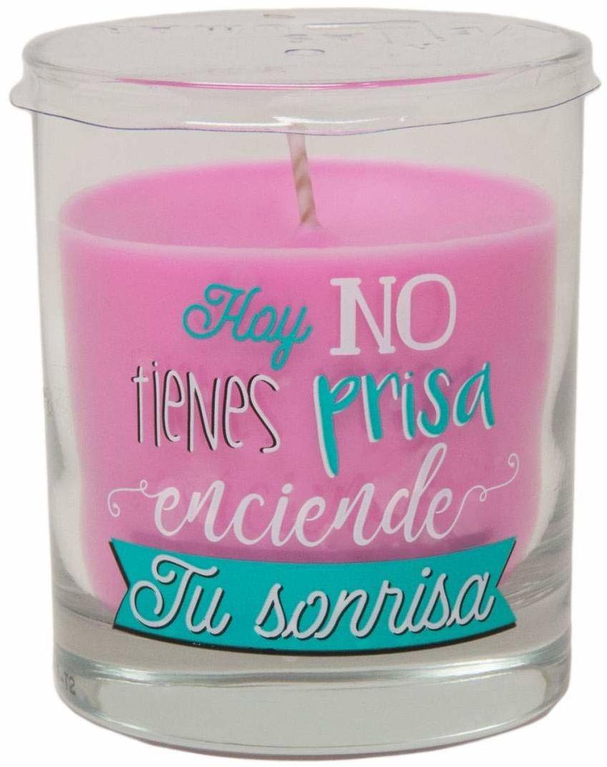 Martinez Morales świeca szklana Twój uśmiech FR, wielokolorowa, 111 jednostek