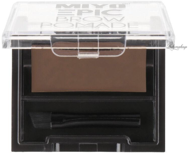 MIYO - EPIC BROW POMADE - Pomada do stylizacji brwi - REBELLIOUS BROWN