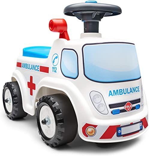 FALK  Wózek choryba  od 12 miesięcy  wyprodukowany we Francji  kierownica z klaksonem  dźwignia z efektem dźwiękowym  pudełko do przechowywania  tabliczka z numerem spersonalizowana  701